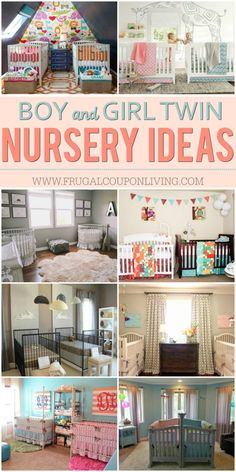 Inspiring Twin Nursery Ideas for Boy Twins, Girl Twins and Boy/Girl Twins on Frugal Coupon Living. Cute and adorable nurseries to get you motivated during your nesting. Boy Nursery Ideas. Girl Nurseries. Twin Nurseries.