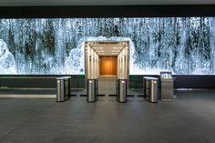"""""""Salesforce approached Obscura with the opportunity to create imaginative media for the long LED video wall in the lobby of their flagship San Francisco office. Digital Signage, Digital Wall, Digital Media, Interactive Installation, Installation Art, Screen Design, Wall Design, Lobby Interior, Interior Design"""