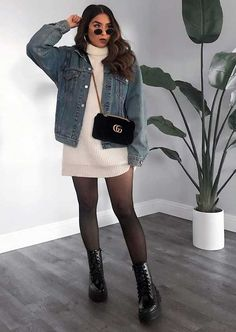 Winter Dress Outfits, Winter Fashion Outfits, Look Fashion, Girl Fashion, Outfit Winter, Mode Outfits, New Outfits, Cute Casual Outfits, Chic Outfits