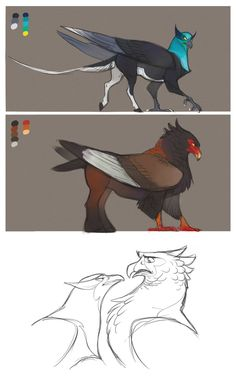 and griffinlike thingies.