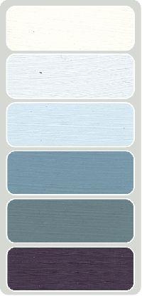 Kleurenkaart met de mooie verf kleuren van Mia Colore