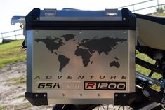 "BMW GS Motorcycle Decal Kit ""R1200 World Adventure Map"" for Touratech Panniers"
