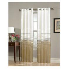 "Thurston Window Curtain Panel Taupe Brown (52""x63"") - Homewear"