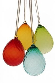 Beautiful blown glass ornament... I got the green one! (on sale!)
