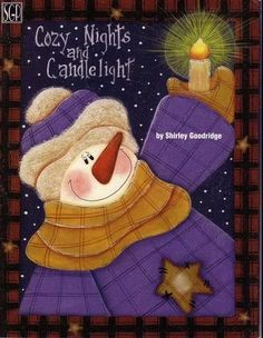 cozy_nights_and_candlelight - monica garcia - Picasa Web Albums Painted Jars, Painted Books, Winter Painting, Painting On Wood, Christmas Wood, Christmas Crafts, Christmas Ideas, Snowmen Pictures, Snowman Pics