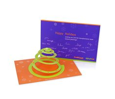 ROCHE - Weihnachtskarte Feder-Tannenbaum Cellcept (Gestaltung X-Ray)