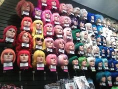 colored wigs for the bachorlette party this coule be fun ha!!!