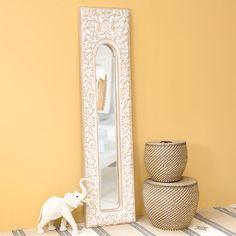 Espejo tremó de resina blanco Al. 178cm HOA