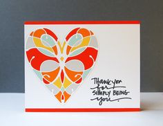 Tangerine, Grey, and Teal Butterfly Thank You Cards #Wedding