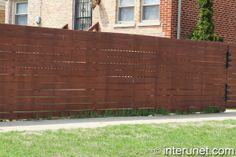 horizontal wooden fences | horizontal-boards-wood-fence-with-gate