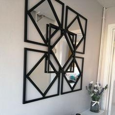 Ikea Mirror Hack, Diy Mirror, Mirror The Range, Hacks Diy, Ikea Hacks, Nifty Diy, Ikea Wall, Contemporary Wall Decor, Diy On A Budget