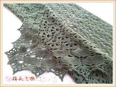 Charming crochet shawl - free graph