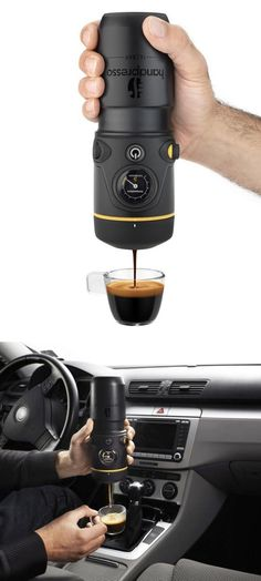 Hand espresso maker - you can still have a great cup of coffee on the road.