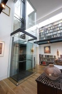 IQ Glass can design and install bespoke modern contemporary glass lift shafts for architects and designers. Stair Elevator, Elevator Design, Glass Elevator, Elevator In House, Glass Lift, House Lift, Stair Lift, Lift Design, House Elevation