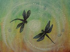 Libellule Passion danse peinture originale par par gristello
