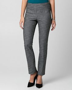 Tweed Straight Leg Pant - Crafted from a timeless tweed, this FLEX pant features a wrinkle-resistant fabrication that moves with you - that's ideal for the office and beyond.