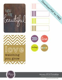 Free Printables from Clique Kits