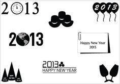 New Year 2013 Vector Graphics