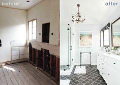 Modern Old-World Master Bathroom