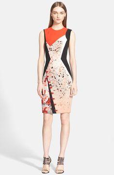 Prabal Gurung Floral Print Sheath Dress available at #Nordstrom