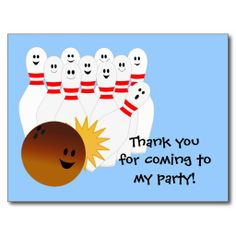 >>>best recommended          	Bowling Party Thank You Postcard           	Bowling Party Thank You Postcard you will get best price offer lowest prices or diccount couponeDeals          	Bowling Party Thank You Postcard lowest price Fast Shipping and save your money Now!!...Cleck Hot Deals >>> http://www.zazzle.com/bowling_party_thank_you_postcard-239234732072442971?rf=238627982471231924&zbar=1&tc=terrest