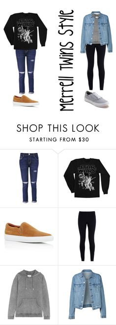 """Merrell Twins Style"" by poppyrc on Polyvore featuring Current/Elliott, Common Projects, NIKE, Zoe Karssen and Vans"