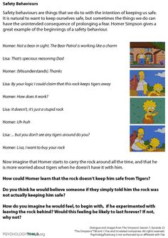 Worksheets Seeking Safety Worksheets this set of 4 seeking safety training dvds was developed under a brilliant free c b t worksheets one using the simpsons looks at behaviours