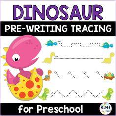 Dinosaurs Preschool Pre-writing Tracing Lines Activities Dinosaurs Preschool, Dinosaur Activities, Motor Skills Activities, Fine Motor Skills, Tracing Lines, Number Tracing, Pre Writing, Writing Skills, Dinosaur Printables