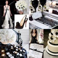 LOVE black shoes & wedding dresses!