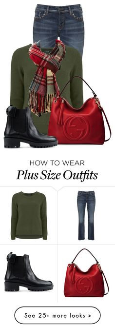 """""""Untitled #13301"""" by nanette-253 on Polyvore featuring Silver Jeans Co., VILA, Charlotte Russe, Gucci and RED Valentino"""