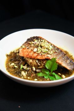 This delicious tangy lemon and coriander sea bass it not only super quick and easy to prepare, but also so tasty it will instantly happify your taste buds. Tangier, Sea Bass, Taste Buds, Coriander, Berries, Spices, Lemon, Tasty, Beef