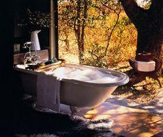 Bañera en el campo