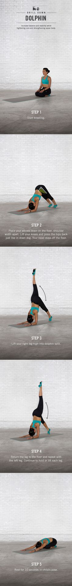 Dolphin Drill Down. #yoga #ntc #nike #stretch