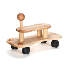Best ride on toy there is! :) Gotta love all natural wooden toys made by hand.