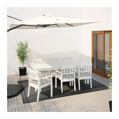 ÄNGSÖ Table, outdoor, white stained white 80 3/4x39 3/8