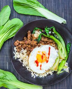 Take 20 minutes to make this super flavorful, healthy dinner: a Thai Beef Bok Choy Rice Bowl.