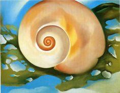 Pink Shell with Seaweed - Georgia O'Keeffe