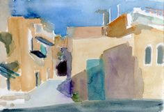 Beit Sahour Palestina 2014 watercolour on paper 26 x 18 cm Watercolour, Abstract, Paper, Artwork, Painting, Design, Palestine, Pen And Wash, Summary