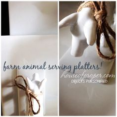 party platters with personality! www.houseofproper.com - toronto styling
