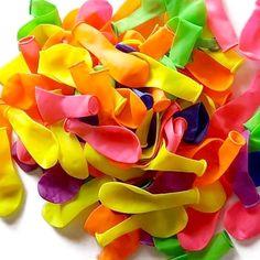 "Amazon.com: Cool & Fun {150 Count Pack} of 3"" - 6"" Inch ""Standard Size"" Water Balloon Bomb Grenades Made of Latex Rubber w/ Fun Vibrant Rainbow Design {Green, Purple, Orange & Yellow} w/ Nozzle Attachment: Toys & Games"