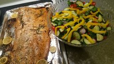 Baked Salmon with Mixed Salad