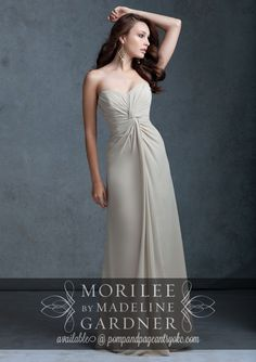 We are the only authorized retailer of Mori Lee Bridesmaids in Oklahoma to offer free alterations on all regular priced dresses. Brides who purchase both wedding gown and bridesmaids dresses may be eligible for discounts. We also offer layaway. (we are unable to give pricing info online or phone)