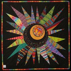 """megan's wonderfully wonky star"" quilt by judy knox"