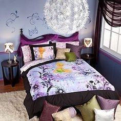 1000 images about girls tinkerbell room on pinterest for Disney fairies bedroom ideas