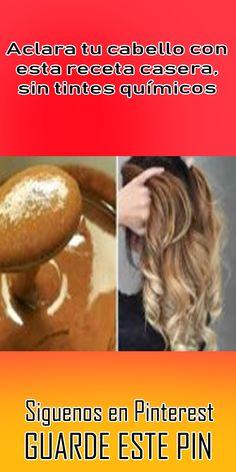 Aclara tu cabello con esta receta casera, sin tintes químicos #aclarar #cabello