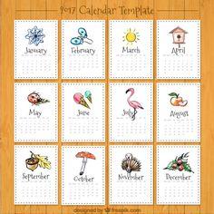 Printable Calendar Pages, Kids Calendar, Calendar Design, Calendar 2017, January Bullet Journal, Desk Calendars, Planner Organization, Journal Covers, Drawing For Kids