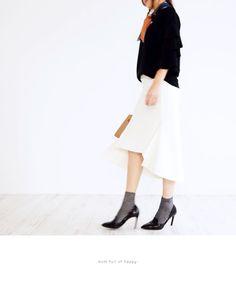 【楽天市場】【再入荷計画中♪】(ホワイト)大人のイレヘムスカートでお洒落コーデを楽しむ3/6新作:Style for mom