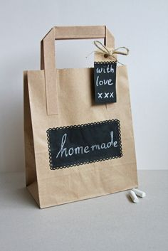 homemade with love...  wrapping idea