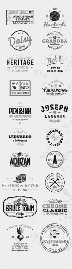 20 Logo & Badge  #simple #clothes • Download ➝ https://graphicriver.net/item/20-logo-badge/17974781?ref=pxcr