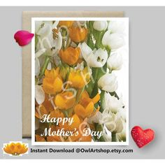 Mothers Day card, Water color flowers, blank card, Card for mom,... ($4.90) ❤ liked on Polyvore featuring home, home decor and stationery